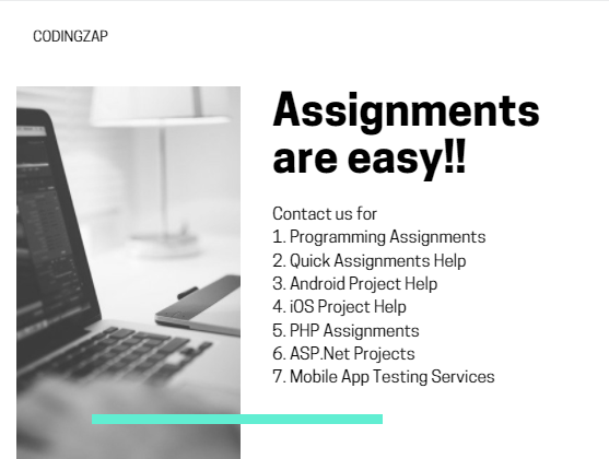 Services at codingzap- Programming Assignment Help