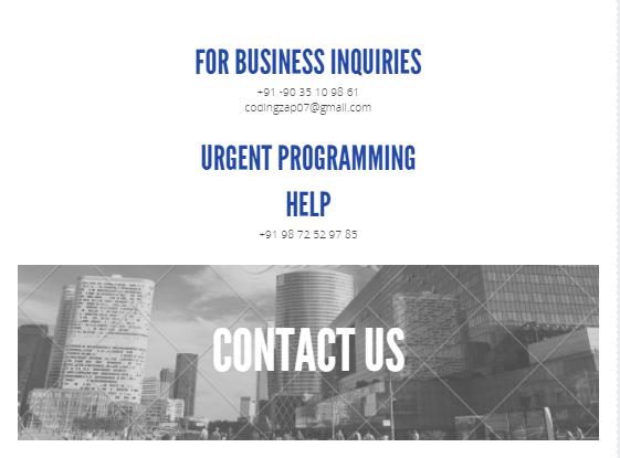 Contact us - codingzap.com