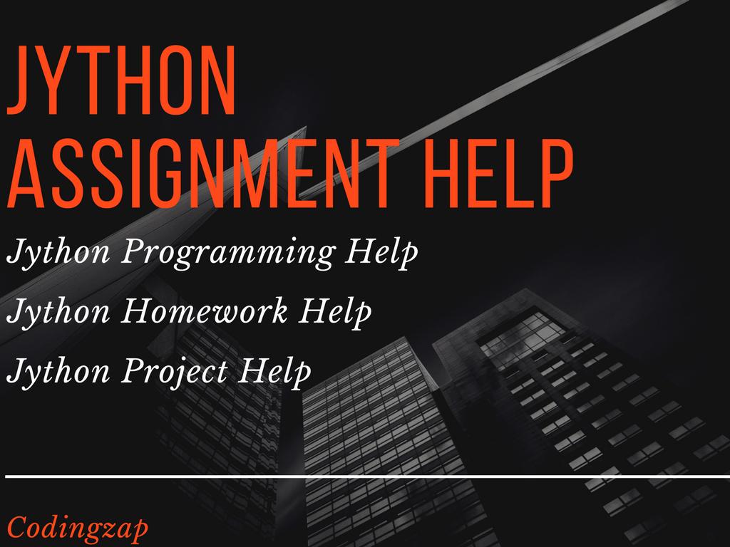 jython assignment help jython programming help codingzap jython assignment help