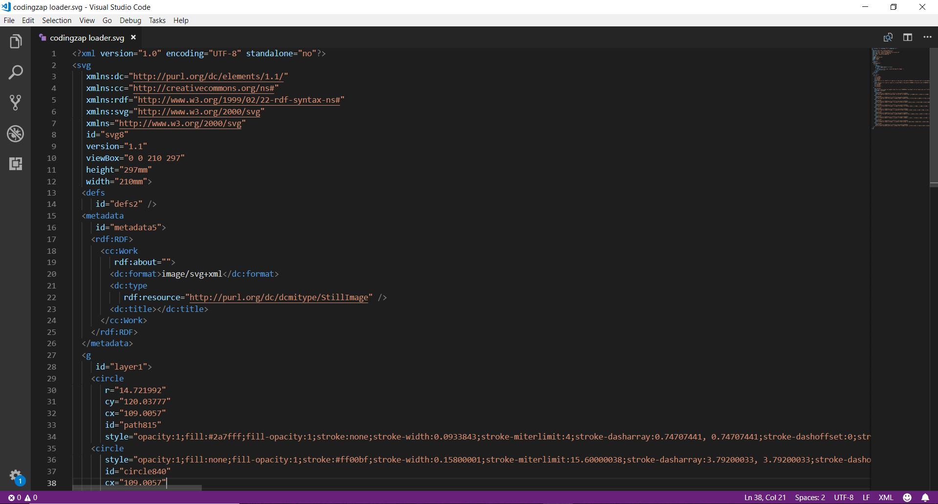 svg in visual studio code